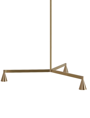 Austere Chandelier 1Y, messing, 250