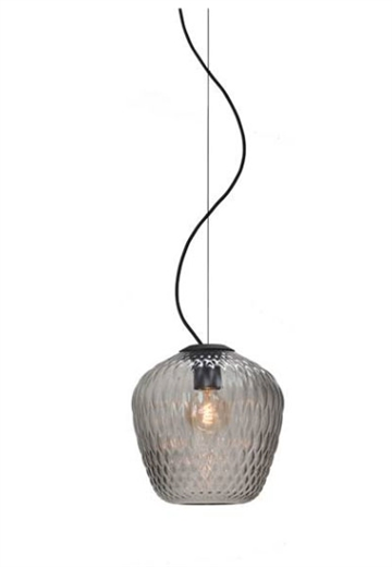 Blown Lamp SW3, silver lustre