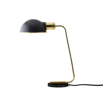 Collister Bordlampe - Tribeca, Poleret Messing & Sort
