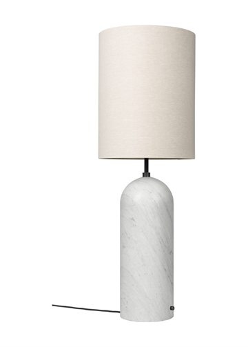 Gravity Gulvlampe XL High, Hvid Marmor/Canvas
