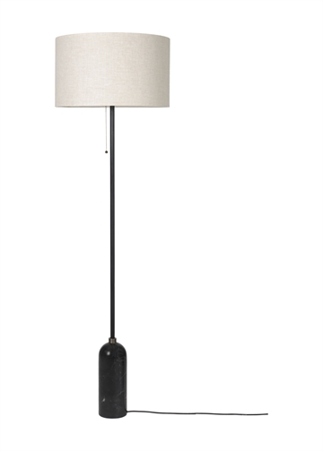 Gravity Gulvlampe, Sort Marmor/Canvas