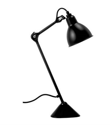 Lampe Gras No 205 bordlampe, sort