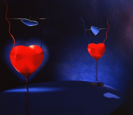 Ingo Maurer One From The Heart bordlampe