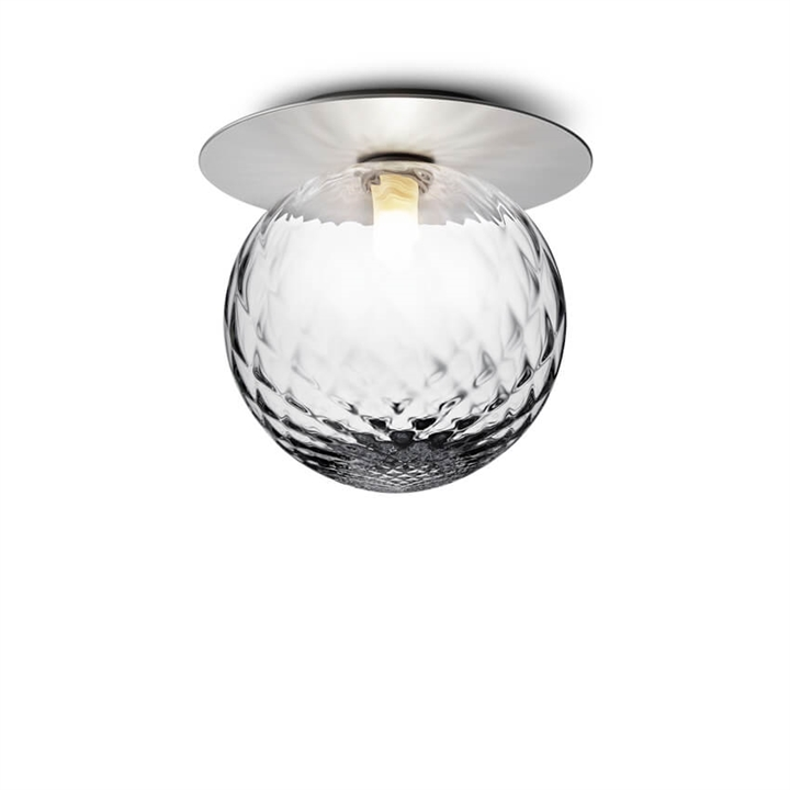 Liila 1 large væglampe / loftlampe IP44, light silver/klar
