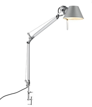 Tolomeo Mini bordlampe, aluminium m bordklemme
